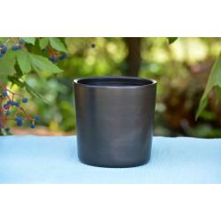 Suport ceramică neagră ustensile de scris, 11 x 11 cm