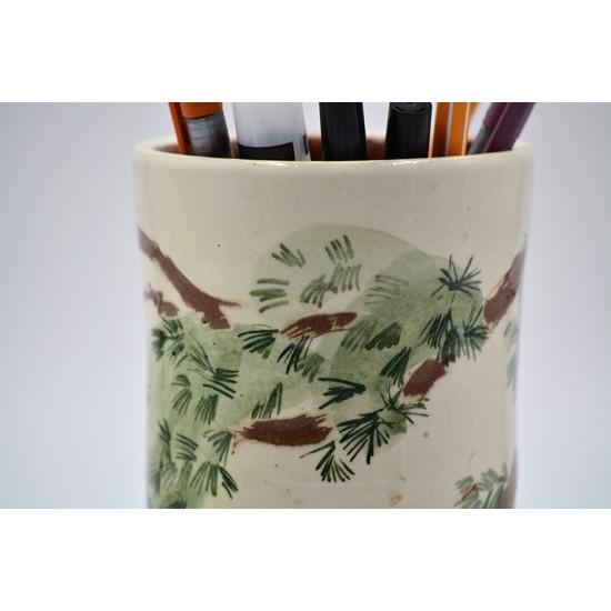 Suport ceramică pixuri - Pini, 12 x 10 cm