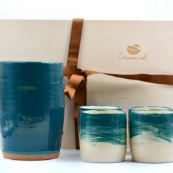Coş cadou - Set Ceramică Blue Lagoon