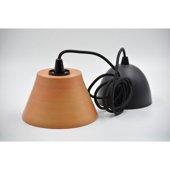 Lampă suspendată - abajur ceramică teracota, 16x9 cm