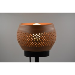 Veioză abajur ceramică Teracota, 19 x 12 cm