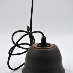 Abajur ceramică neagră - Lampă suspendată, 15x9 cm