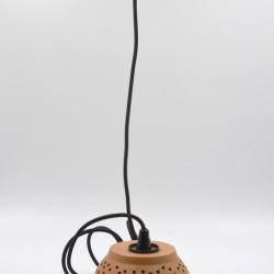 Abajur ceramică teracota - Lampă suspendată, 17x9 cm
