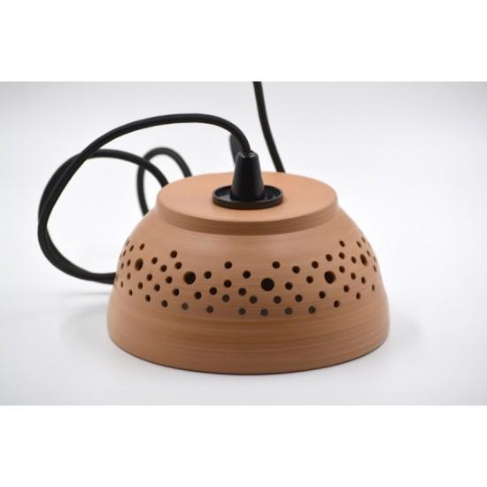 Lampă suspendată - abajur ceramică teracota, 18x9 cm