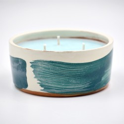 Lumânare parfumată cu suport ceramică - Island (Miros de mare), 33 h