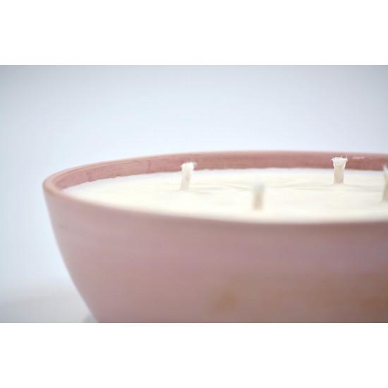 Lumânare parfumată cu suport ceramică - ulei esențial Citronella, 33 h