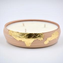 Lumânare parfumată cu suport ceramică - ulei esențial Citronella, 30 h