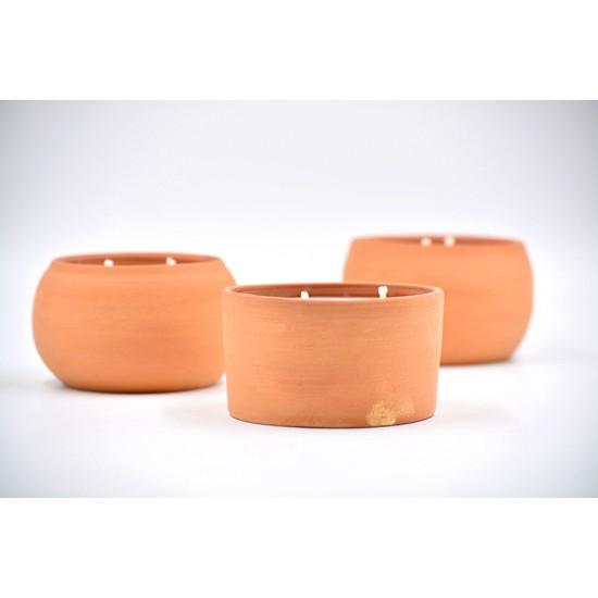 Lumânare parfumată cu suport ceramică -  Tropical Vanilla (Vanilie, cocos), 33 h