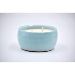 Lumânare parfumată cu suport ceramică - Evening Scent (Gardenia, iasomie), 30 h