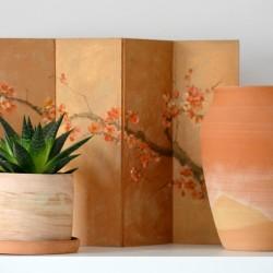Vază ceramică decorativă Teracota, 27 cm