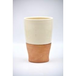 Vază ceramică Alb - Teracota, 17 cm