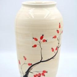 Vază ceramică - Măceşe, 27 cm