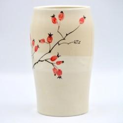 Vază ceramică - Măceşe, 20 cm