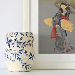 Vază ceramică - Cobalt, 22 cm